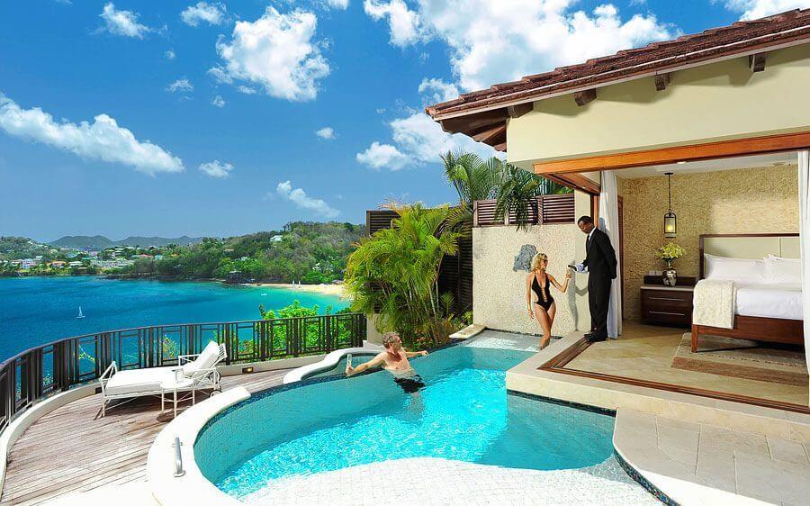 Sandals Regency La Toc Discount room $187 per person/night