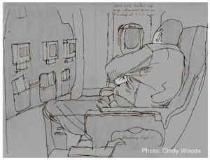 Red eye sleep on the plane